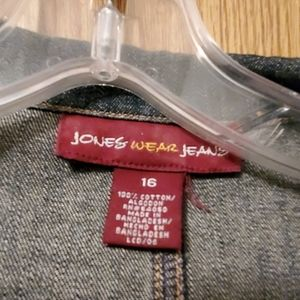 Jones Wear Jackets & Coats - Jones Wear Jean's Jean jacket,  size 16